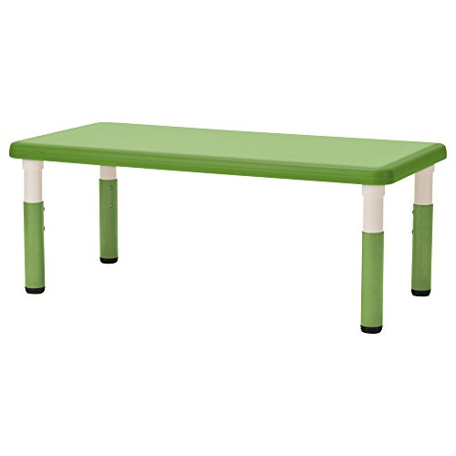 """ECR4Kids24"""" x 48"""" Rectangle Resin Activity Table - Indoor/Outdoor Kids Table for Classrooms, Daycares, Playgrounds, Grassy Green"""