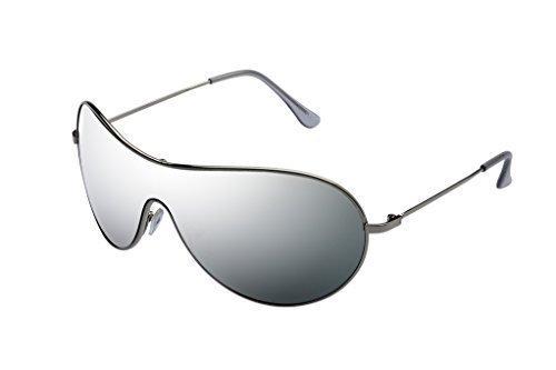 ALPLAND Pilotenbrille Sonnenbrille SILBER voll verspiegelt - NEUES MODELL - GJOpMyIzX
