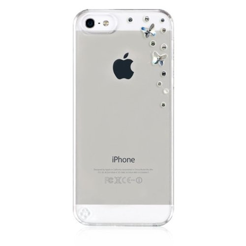 BlingMyThing, Butterflies pour iPhone 5 - Silvernight