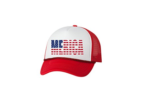 Rogue River Tactical Funny Trucker Hat America Merica Baseball Cap Retro Vintage Patriotic USA Flag America - Team Trucker Hat Usa