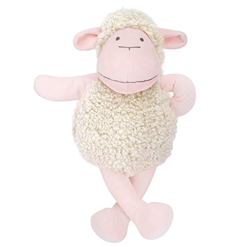 (Zooawa Stuffed Animal Plush Toy, Soft Cute Lamb Bedtime Sheep Figure Nursery Toy for Toddlers, Pink,)
