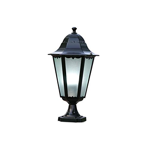 American Country Impermeabile Colonna Testa Luce Cortile Villa Outdoor Doorpost Pilastro Luce Ingresso principale Decorazione Paesaggio Illuminazione Recinzione Lampada da giardino Post Lanterna