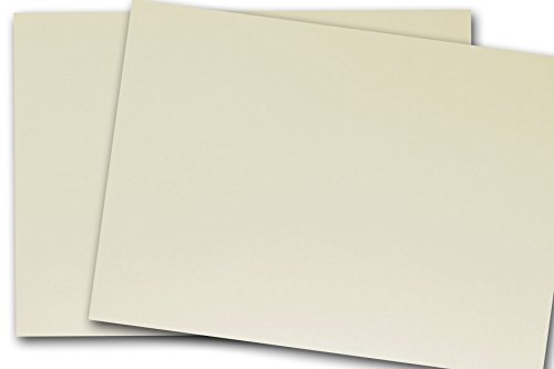 Blank Classic Crest 4x6 Card Stock - 50 Pack (50 Pack, Classic Natural White - 110 lb) 80 Lb Cover Classic Crest