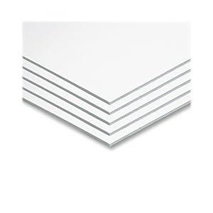 """Pacon Foam Board, White, 22"""" x 28"""", 5 Sheets"""