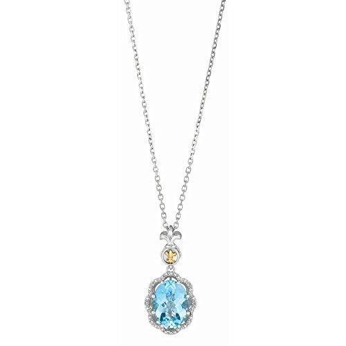 Argent 925/1000-Or Jaune 18 Carats-JewelryWeb 0.04ct-Blanc
