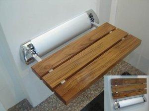 Amerec 9270-029 Wood Seat, Teak/Chrome