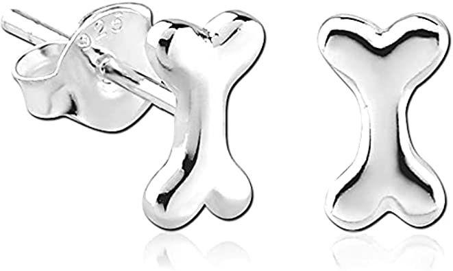 Dog Stud Earrings Genuine Sterling Silver 925 Jewelry Product Height 5 mm
