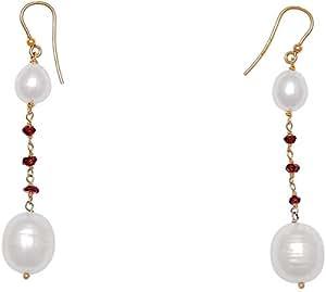 Lunella Gioielli White Drop Pearl Earring - LOR1060E