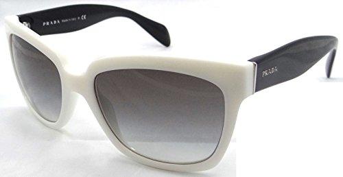 Prada Sunglasses Spr 07p 7s3-0a7 56x18 White Black / Grey Gradient Made in - Sunglasses Black Prada And White