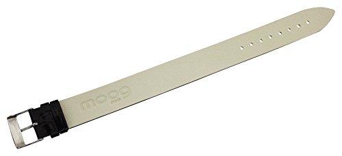Moog Paris Brown Calf Leather Bracelet for Women, Varnished Alligator Pattern, Pin Clasp, 18mm Band - CC-05G