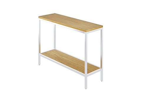Bamboogle BKL-10-S-4414-T Industrial Chic Bamboo Entry Table Console Table with Steel Legs, 44″ x 14″ x 32″, Timber