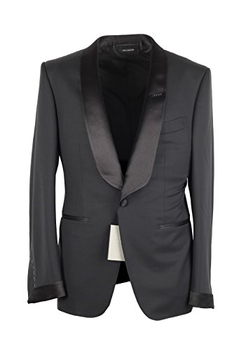 CL - Tom Ford O'Connor Black Shawl Collar Tuxedo Smoking Suit Size 48C/38S U.S. Fit - Tom Ford Fit