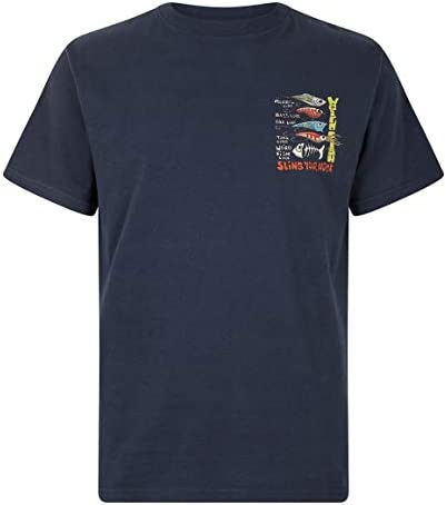 Weird Fish T-shirt Taille S charface Blue artiste Imprimer Homme