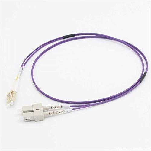 C2G 50m LC/SC OM4 LSZHファイバーパッチ - パープル - パッチケーブル - LCマルチモード(M) - SCマルチモード(M) - 50 m - 光ファイバー - 50/125ミクロン - OM4 - パープル