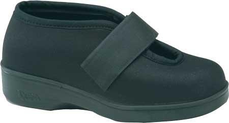 Aetrex Women's Ambulator Stretcher Single Strap Velcro Shoes,Black Spandex,10 W