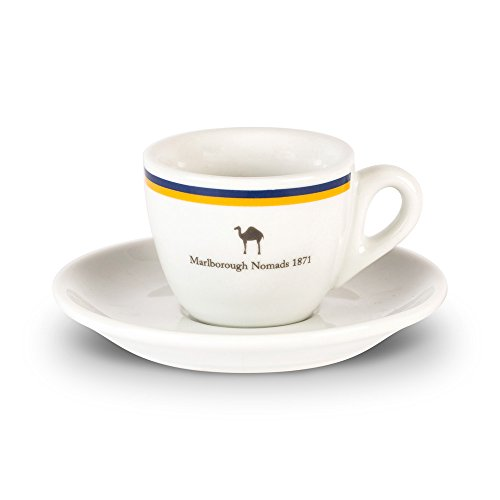 Black & Blue 1871 Marlborough Nomads Espresso Cup And Saucer Set (One Size) (Blue/Yellow)