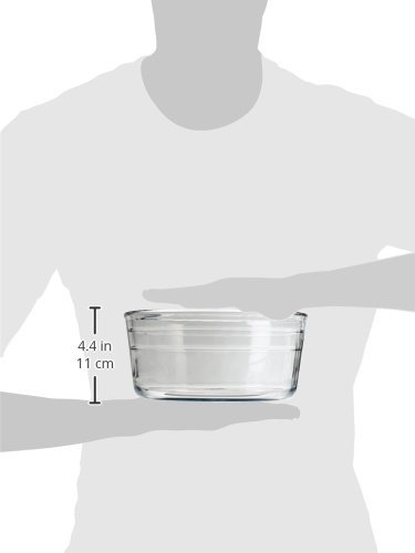 Arcuisine Borosilicate Glass Soufflé Dish 8.5 Inches (21 Centimeters) by International Cookware (Image #2)