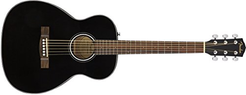 Handed Acoustic Guitar - Travel Body - Black ()