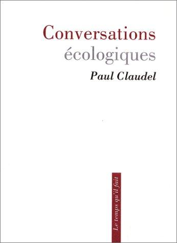 Read Online Conversations écologiques PDF