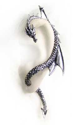 The Dragon's Lure - Left Ear Version (Stud) Earring Alchemy Alternative Lifestyle Gothic Jewelry