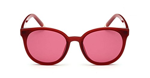 GAMT Cat Eye Clear Sunglasses Retro Classic Oversized Designer for Men Red Frame Red - Clear Round All Red Sunglasses