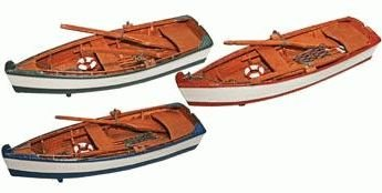 - Miniature Wooden Row Boat Replica 8-inch (Realistic Looking) (1-pc Random Color)