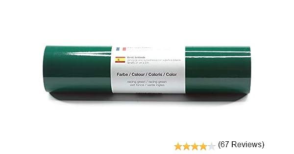 Lámina de plotter autoadhesiva lámina de vinilo 21 cm x 3 m brillo 39 colores a elegir, Glänzend L-Serie:Verde Ingles: Amazon.es: Hogar