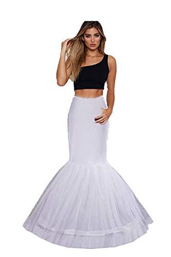 Ieuan Mermaid White Wedding Accessories Petticoat Underskirt Slips Evening Prom for Wedding Dress