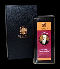 Ospina Estate Coffee, Premier Grand Cru, Whole Beans, Deluxe Gift Box, Colombian Arabica Typica, Awarded World's Best Coffee, French Press, Espresso, Coffee Beans, Colombian Coffee, Gourmet, Classic Roast, 12 (Grand Espresso Beans)
