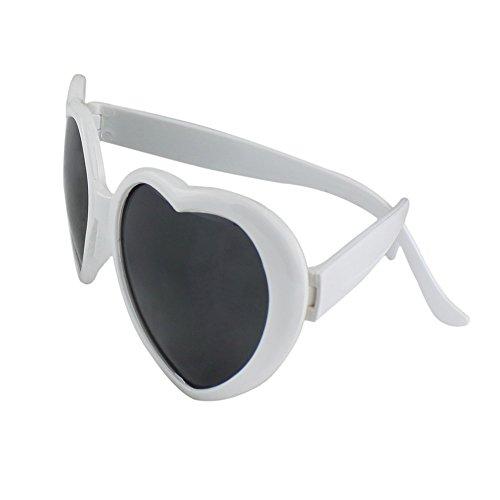 d'été drôle Fashion lunettes forme coeur Funie cadeaux soleil amour de rétro Blanc Lolita EqtgH