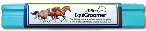 "EquiGroomer Large 9"" Shedding/Grooming Tool for Horses (Turquoise)"