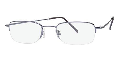Flexon Flx 807Mgc-Clip Eyeglasses 401 Steel Blue Demo 49 20 0 ()