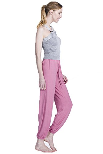 Liqy - Pantalón - ancho - para mujer Rosa