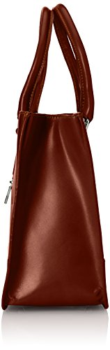100 Made Classica Marrone Elegante Donna in Italiano pelle 36x26x18cm Borsa Italy Stile CTM Vera qTzRwR