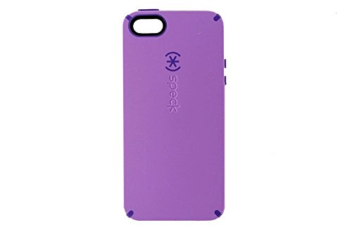 Speck CandyShell Case Compatible with Apple iPhone SE/5S/5 - Haze Purple/Grape Purple
