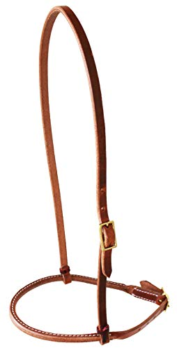 (Challenger Amish Horse Western Tack USA Harness Leather Cavison with Rolled Noseband 975H980)