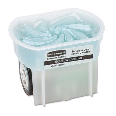 Rubbermaid 9C95-01 Wintermint Cassette with Odor Absorbing Gel for Portable Dispenser (6 per Case)