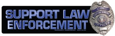 (Support Law Enforcement Bumper Magnet)