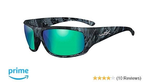 Wiley X Mens Gravity Polarized Emerald Mirror Matte Sunglasses - Acome07