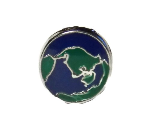 World Globe Charm for Floating Lockets - Old School Geekery Brand Locket Charms - Vacation Travel Memory Charm