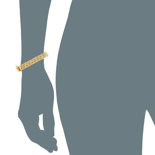 jewelryaffairs Triple Bracelet En Chaîne torsadée en or jaune 14K-Largeur: 6mm-17,8cm 20,3cm Longueur