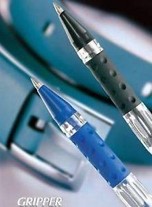 CELLO original caja-pack de 50 bol/ígrafos de punta redonda con grip//agarre para mayor sujeci/ón para escribir de uso oficina//escuela Azul color