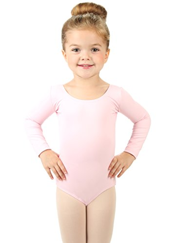 Elowel Girls' Team Basics Long Sleeve Leotard Pink (size2-4) -