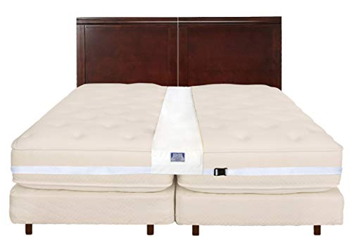 Easy King Bed Doubling System - Twin To King Converter Kit - Includes Machine Washable Bed Bridge and Adjustable Mattress Connector Belt