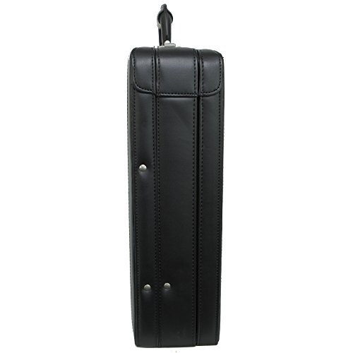 Alpine Swiss Expandable Leather Attache Briefcase Dual Combination Locks 1 Year Warranty by alpine swiss (Image #4)