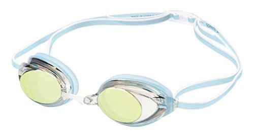 Speedo Competitive Women`s Vanquisher 2.0 Mirrored Anti-fog Swim Goggles; Blue