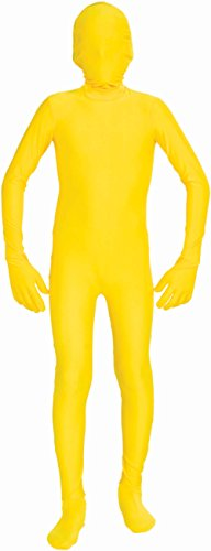 Forum Novelties Men's Disappearing Man Solid Color Stretch Body Suit Costume, Yellow, Large/X-Large