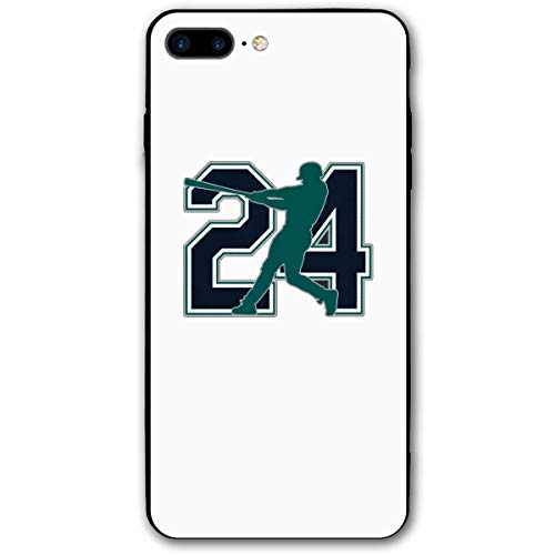 iPhone 8 Plus Case Seattle Griffey The Kid Ultra-Thin Back Case Drop Proof Design Printed Pattern Silicone Bumper Case for Apple iPhone 7/8 Plus (Griffey Big Kids)