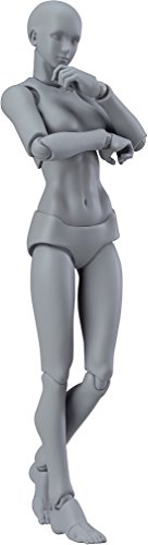 Max Factory Figma Archetype Next Female Action Figure (Gray Colored Version) (Body Chan Body Kun Manga Drawing Figure)