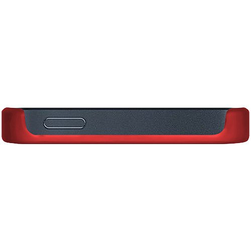 Amzer Coque à clipser pour iPhone 5 Motif à croisillons avec brillants (Rouge foncé)